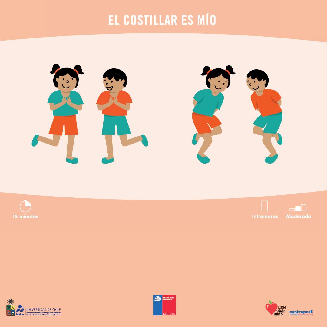 """En nuestra serie de #JuegosActivos hoy traemos la canción y el baile """"El Costillar es Mío"""", la cual es parte de una serie de dinámicas de 15 minutos elaborada para profesores pero que, ante la contingencia, pueden ser aplicadas con sus niños y niñas en casa #CuidémonosEntreTodospic.twitter.com/IXlWND3O6k"""
