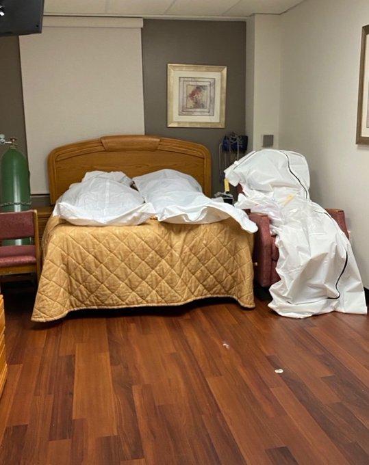 États-Unis: des cadavres de victimes du covid-19 entassés dans un hôpital-(photos)