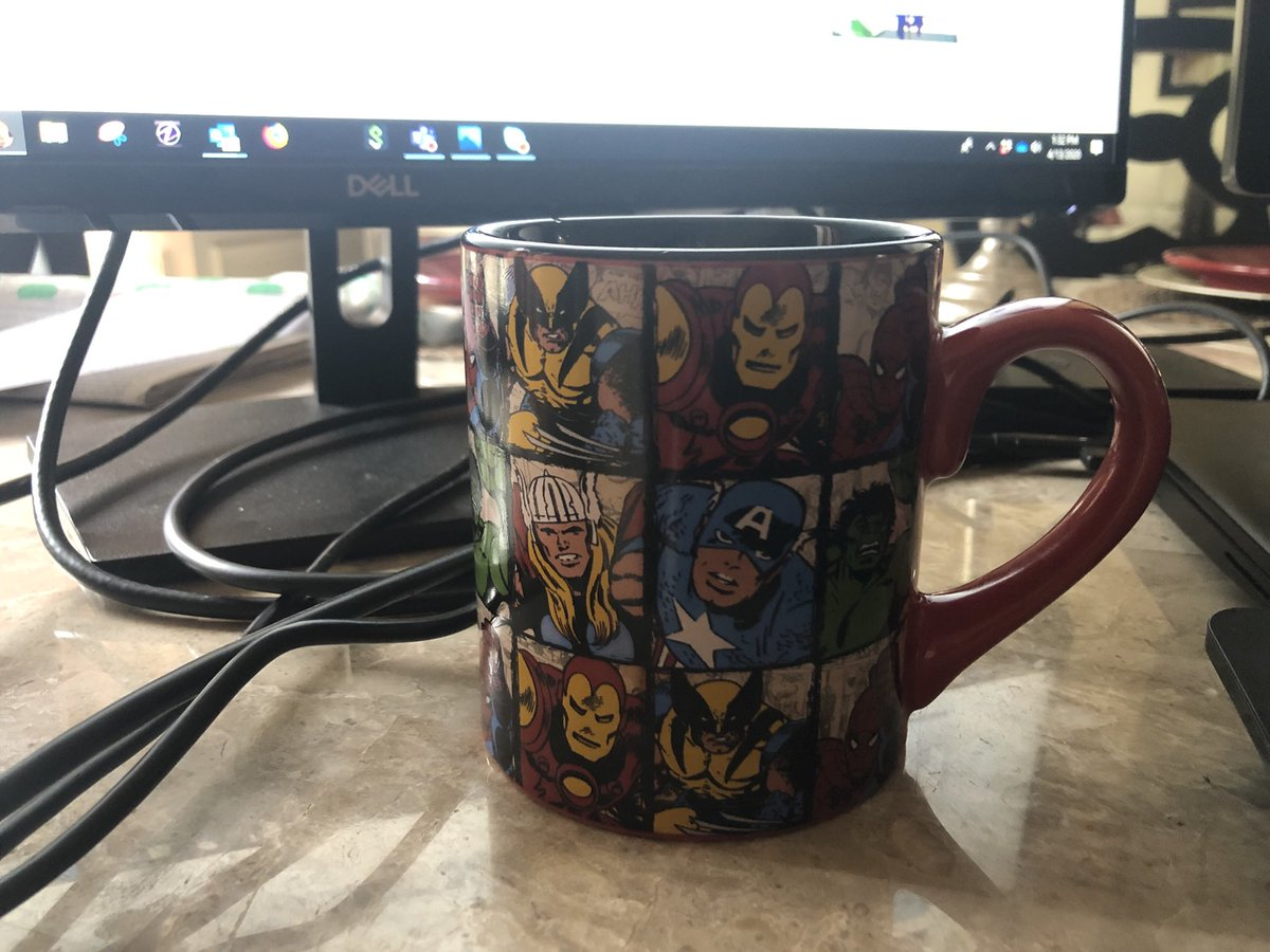 Went to the office to get my coffee mug. Home office space is now complete.