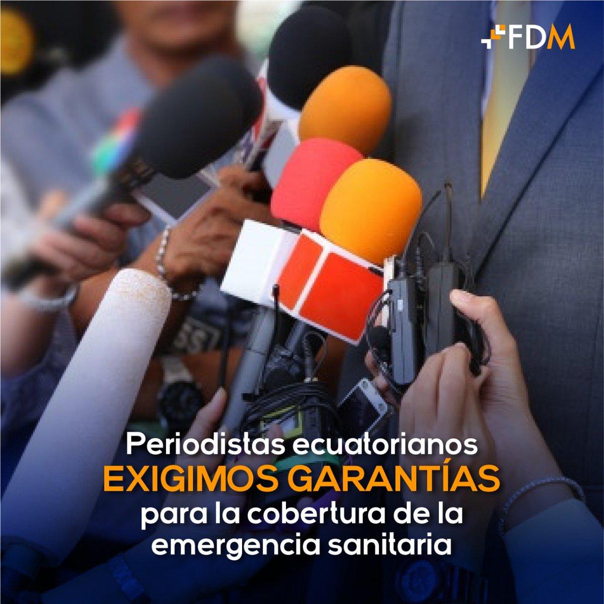 #Pronunciamiento   Periodistas ecuatorianos exigimos garantías para la cobertura de la emergencia sanitaria. Exigimos al Comité para la Protección de Periodistas dar acceso a test de #COVID19, servicios de salud integral y protección de derechos laborales: https://t.co/HL6YVXhUVx https://t.co/4wYy8Z7xiz