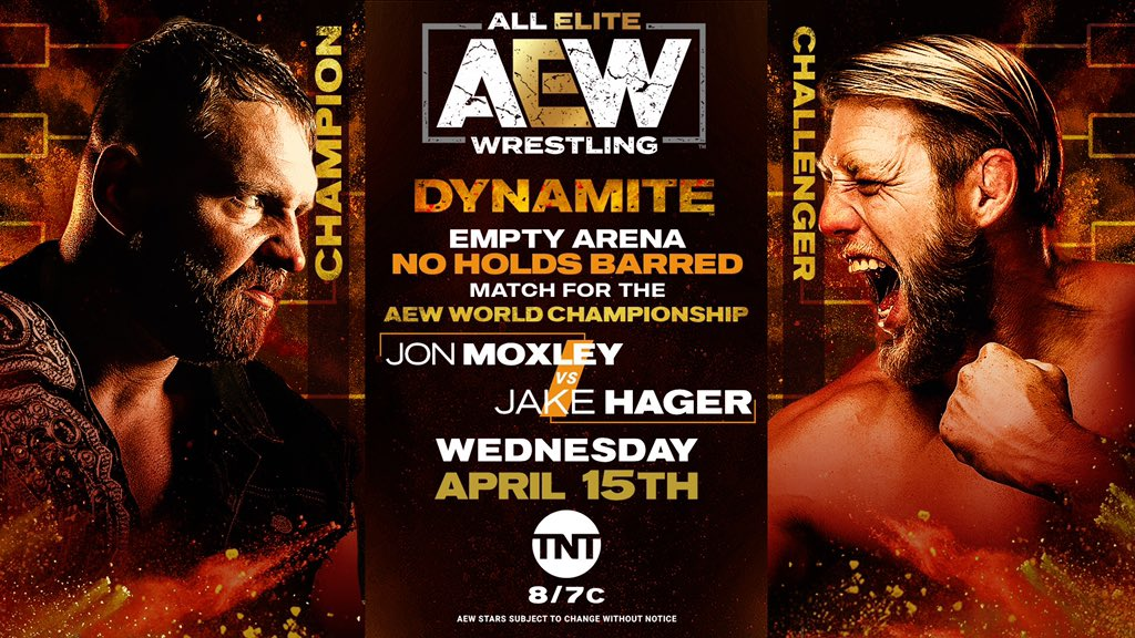Tony Khan Hypes Wednesday's AEW Dynamite Empty Arena Match Between Jake Hager And Jon Moxley