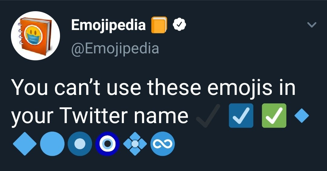 Emojipedia On Twitter You Can T Use These Emojis In Your Twitter Name Https T Co Bodt0ffpin