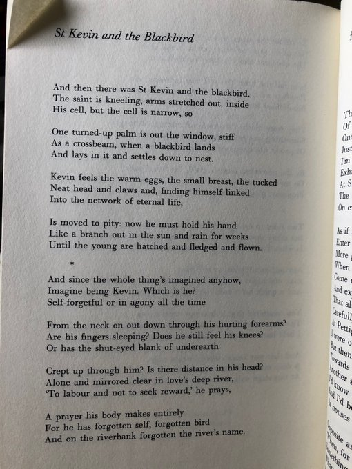 Happy birthday seamus heaney and an excuse to put this perfect poem in every corner of the Internet