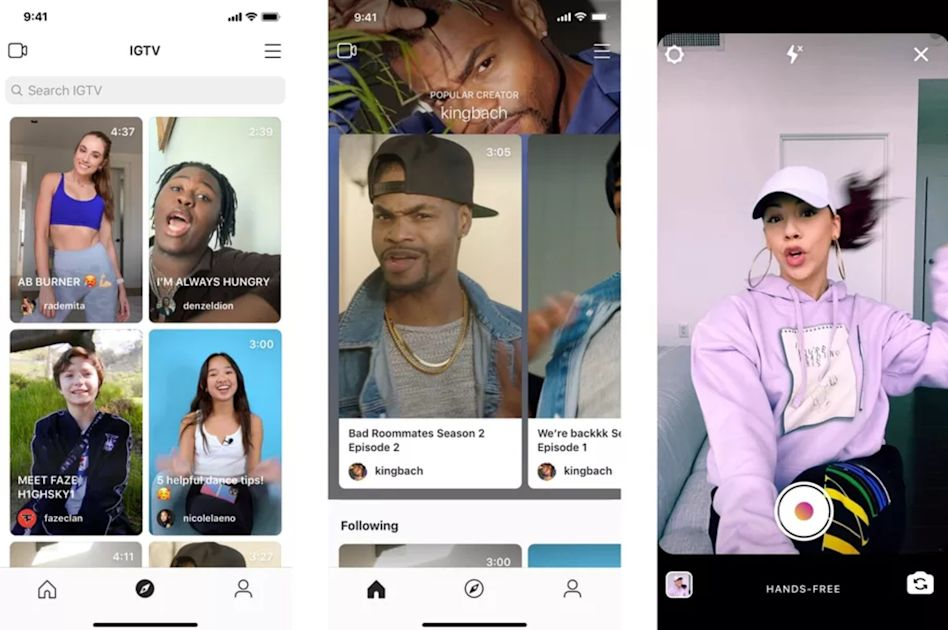 Instagram's redesigned IGTV app helps you find new creators to follow
