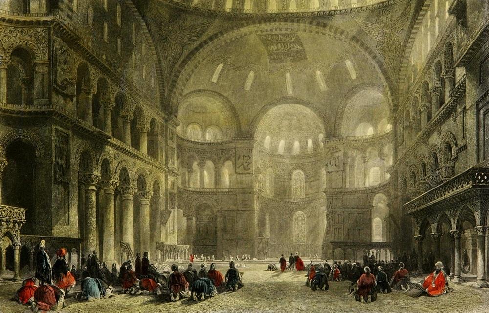 Ayasofya Camii, İstanbul, 1838