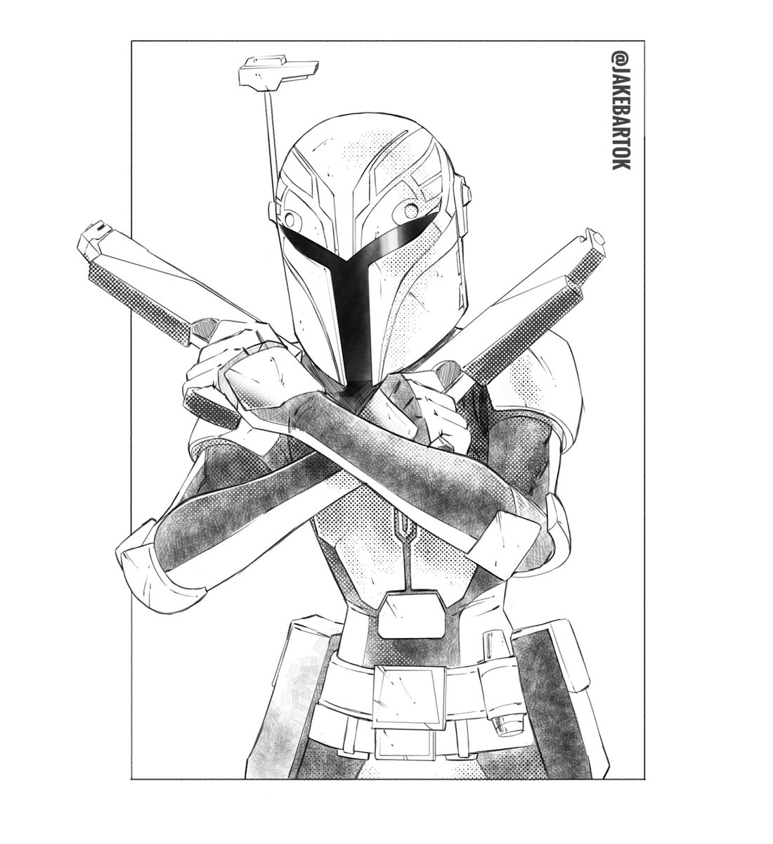 Drawing of Sabine Wren di Star Wars Rebels coloring page | 1200x1100