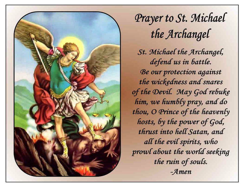 archangel michael prayer - 1000×773