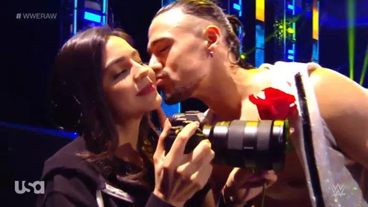 Angel Garza's Fiancée Appears On WWE RAW (Video)