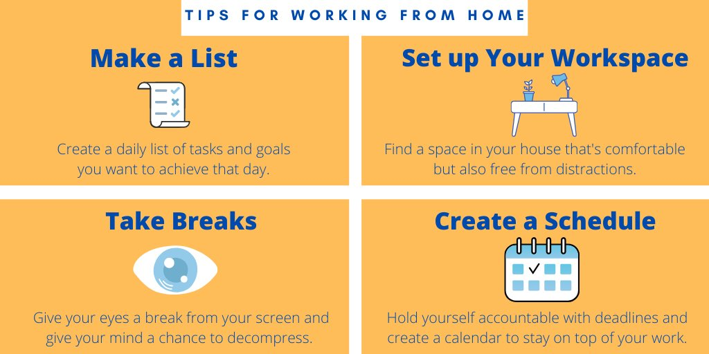 Having trouble working from home? Check out these tips to help make it a little bit easier⬇️
