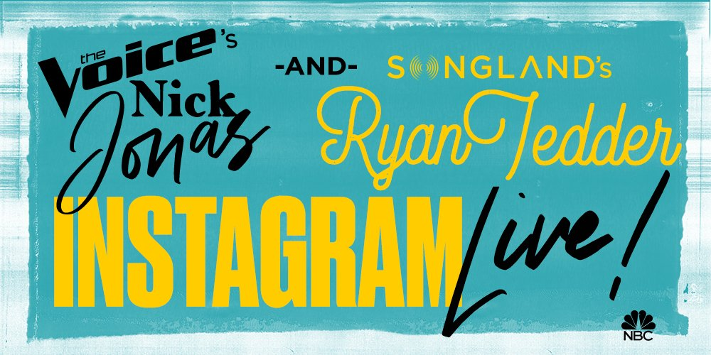 I'm going live on Instagram with my buddy @nickjonas in 30 minutes! #TeamNick #TeamRyan @nbcsongland @nbcthevoice