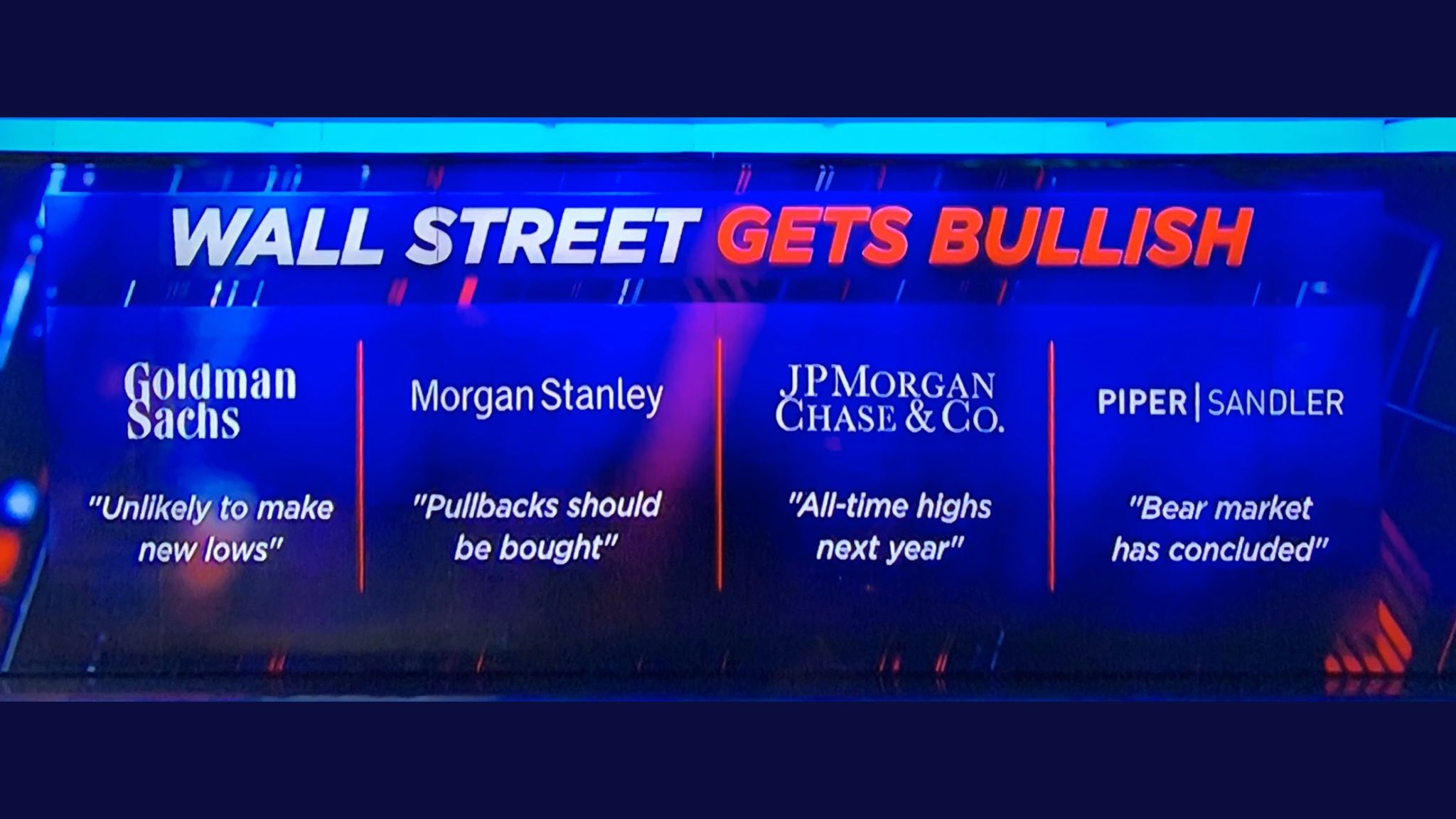 Wall Street Gets Bullish