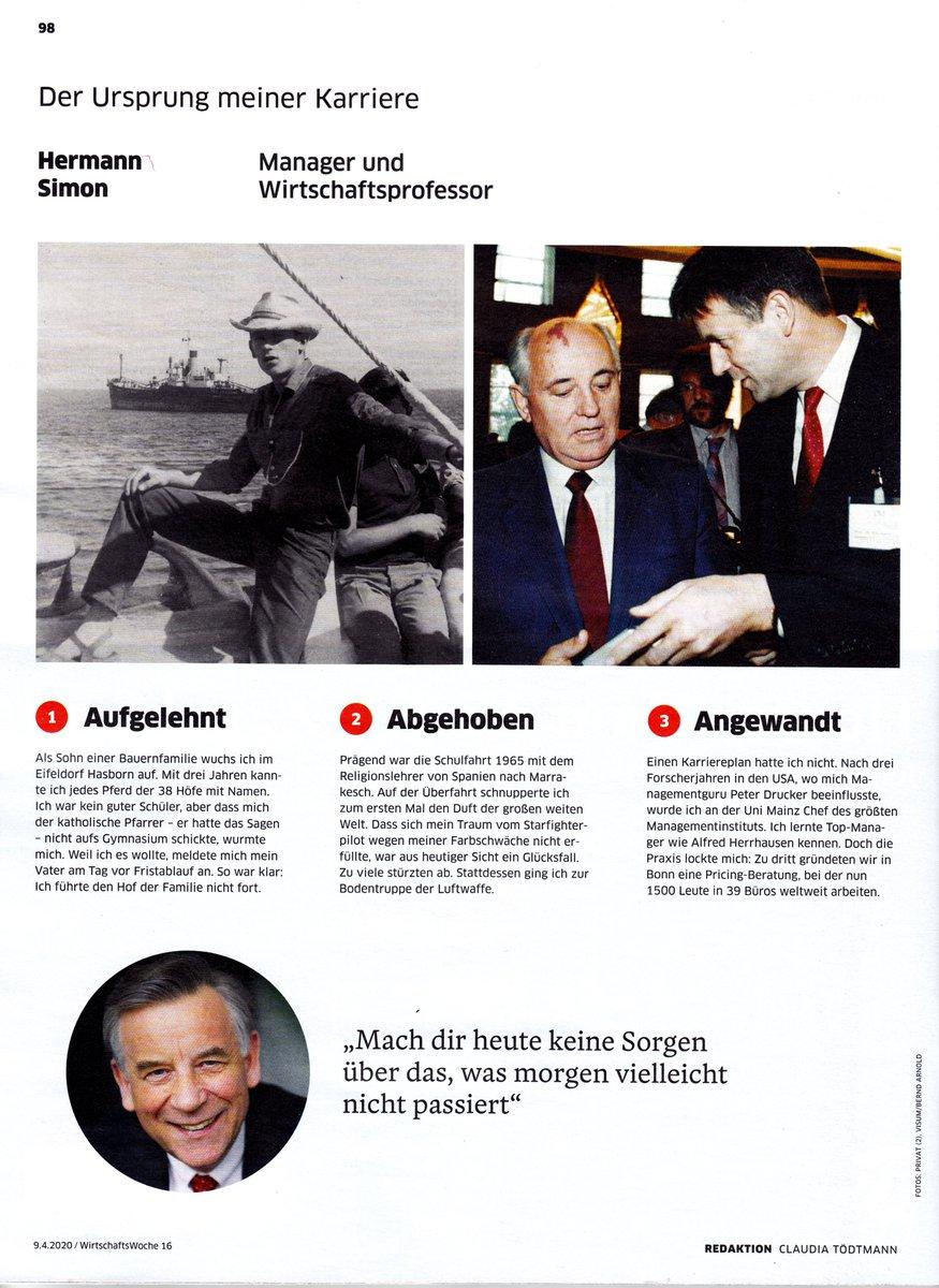 """Hermann Simon on Twitter: """" aus der Wirtschaftswoche #Karriere"""