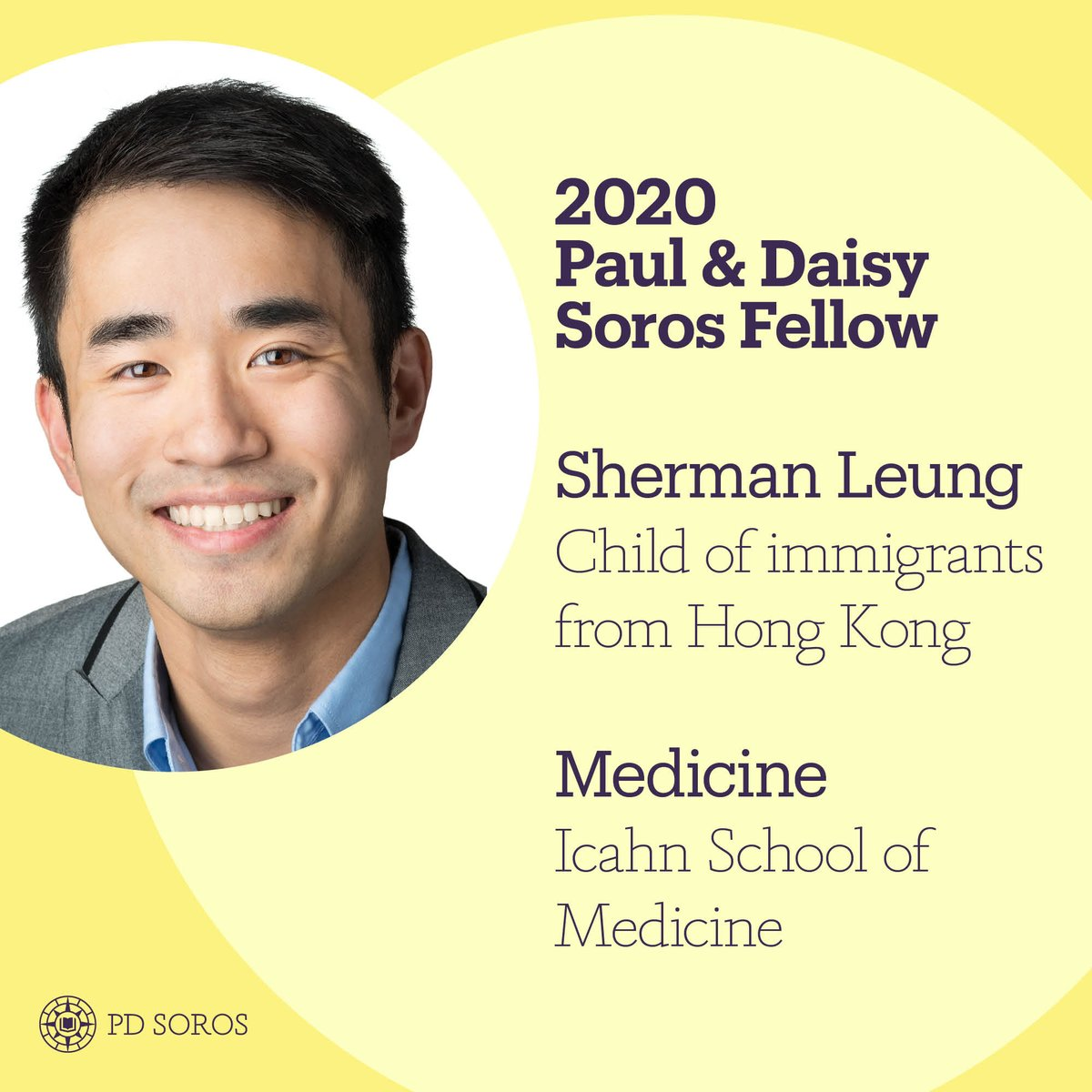 Sherman Leung, 2020 Paul & Daisy Soros Fellow