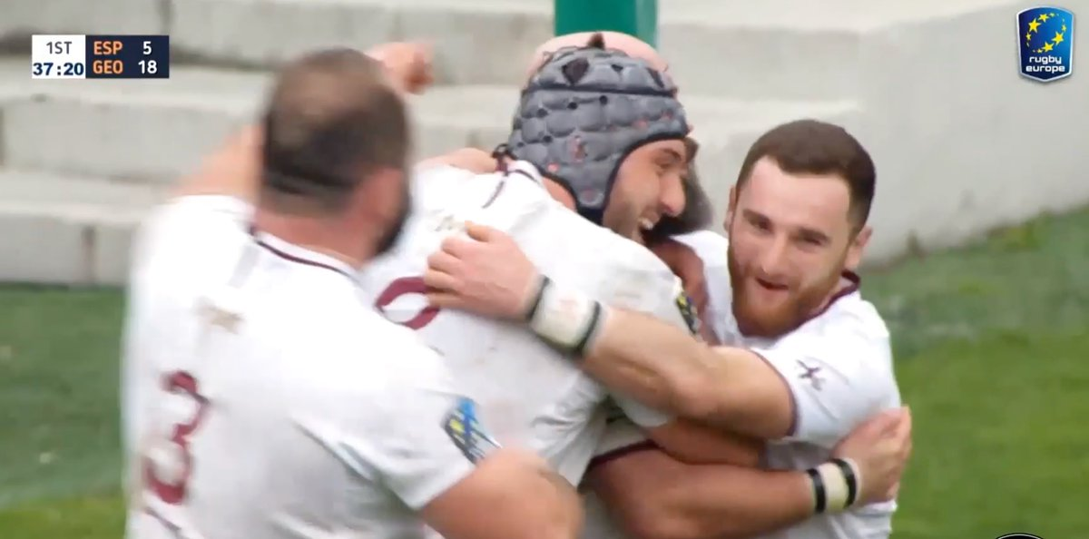 🔱 Rugby Gold 🔱 🇪🇸v🇬🇪 | Throwback to the Rugby Europe Championship 2020. A couple of well-worked scores for @GeorgianRugby when they visited @ferugby to record a 23-10 victory. 👇🎥 Relive all the REC matches on our website rugbyeurope.eu/all-games-2019…