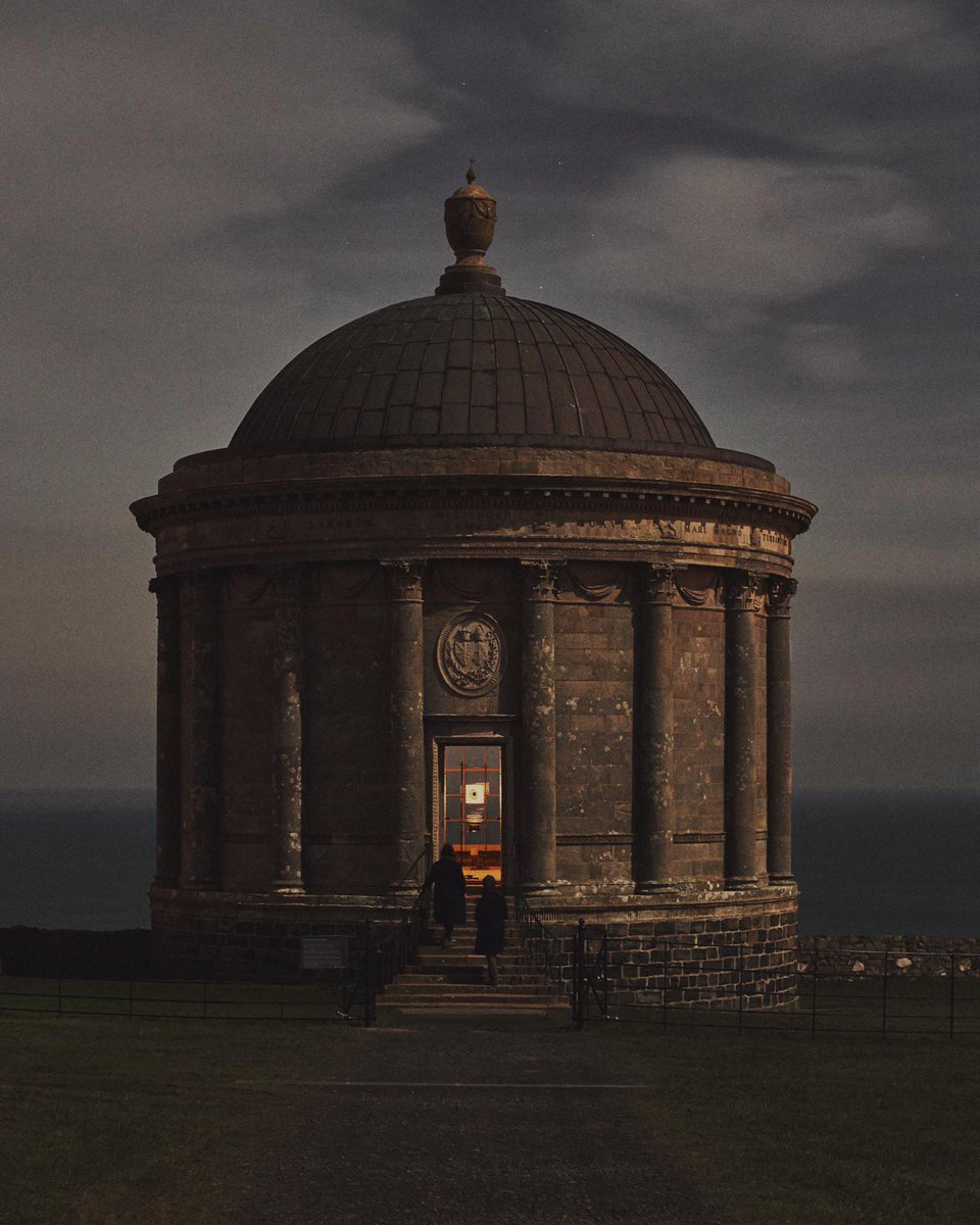 Silent Light, the site-specific installation of JAMESPLUMB's light-based work, Stained Moons, which ran for half a moon cycle from 9-23 February 2020 at Mussenden Temple, on the Atlantic coast of Northern Ireland.  From Cereal Volume 19.   https://t.co/Z9c8S4MHP1 https://t.co/Df6E3WLVhY
