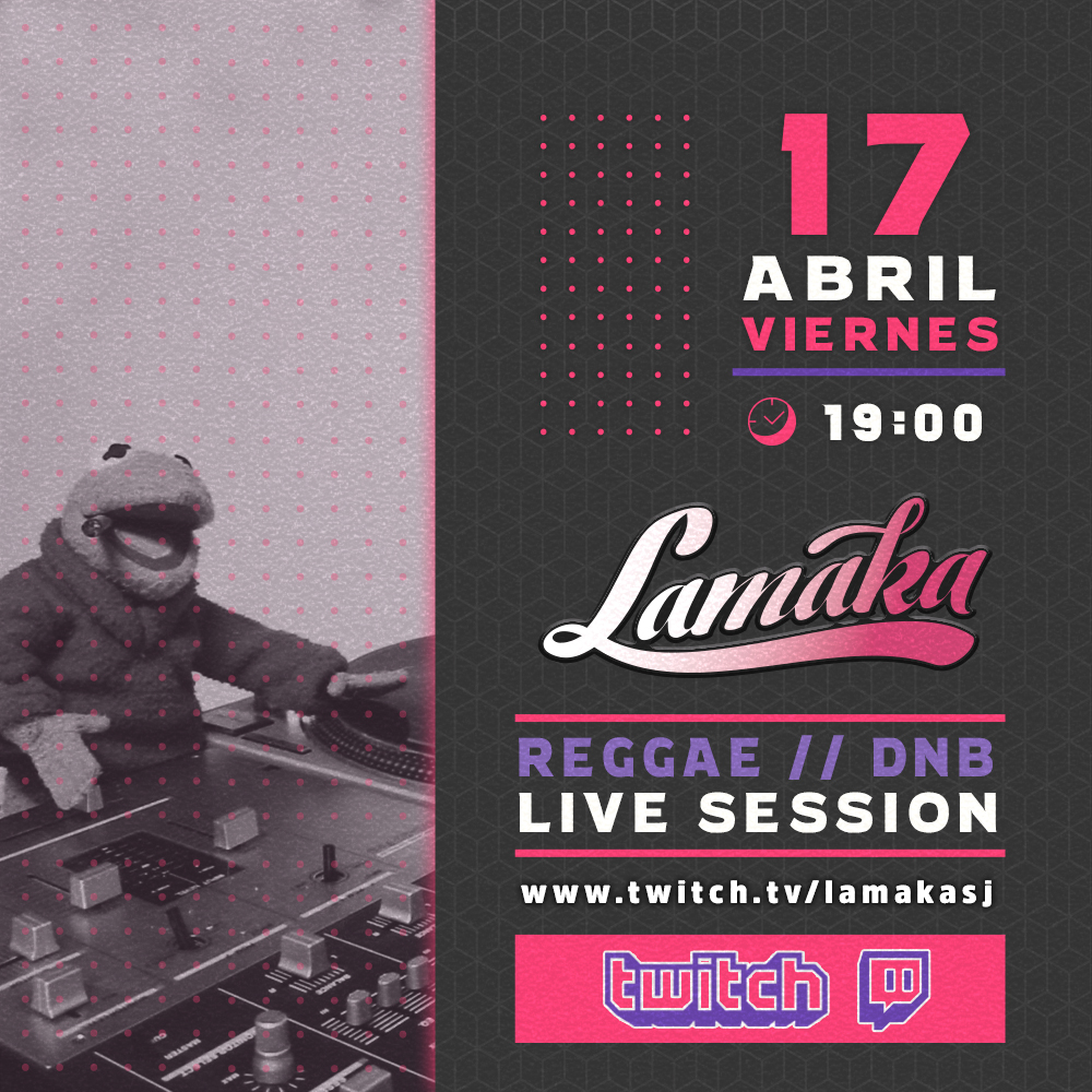 Lamaka Next Friday 17 April, at Twitch, Live Streaming session! Reggae & Drum and bass vibes!! #streaming #twitchtv  #drumandbass #reggaeCulture #oldschooldj #lamaka #alicante #spain #womendj #nosyncbuttonpic.twitter.com/35xxg4q4AC