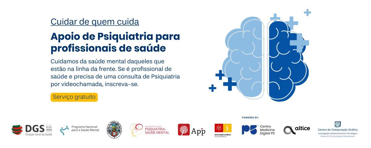 🗓 Uma plataforma de pedido de consultas urgentes de psiquiatria, dirigida exclusivamente aos PROFISSIONAL DE SAÚDE, que trabalham na luta contra o #COVID19 .Acedam ao link: 👇 https://t.co/7uA43sqNoa  #CCG #P5 #UMinho #DGS #Altice #APIP #Ordemdosmedicos https://t.co/9pr2HW7EIf