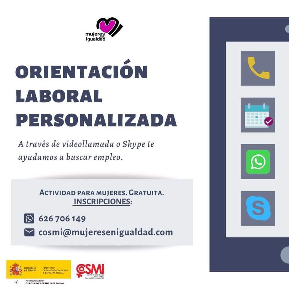El programa @CentroCOSMI de inserción y orientación #laboral continúa activo. ¿Necesitas asesoramiento? Nuestras técnicas se pondrán en contacto a través de #Skype o videollamada de #WhatsApp.  https://lnkd.in/e_qJHfF  #trabajo #empleo #entrevistalaboral  #cvpic.twitter.com/MXRV7j9ZNg