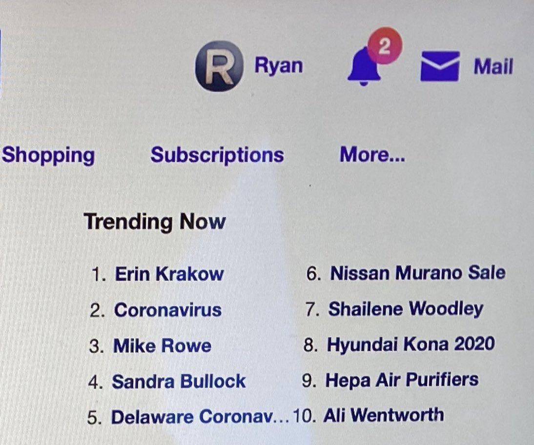 Congratulations @erinkrakow you're more viral than #coronavirus 😂