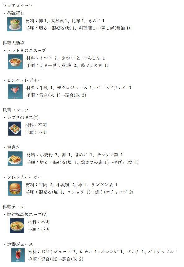 レシピ ドラブラ 【ドラブラ攻略】自作料理のレシピまとめ [ファミ通App]