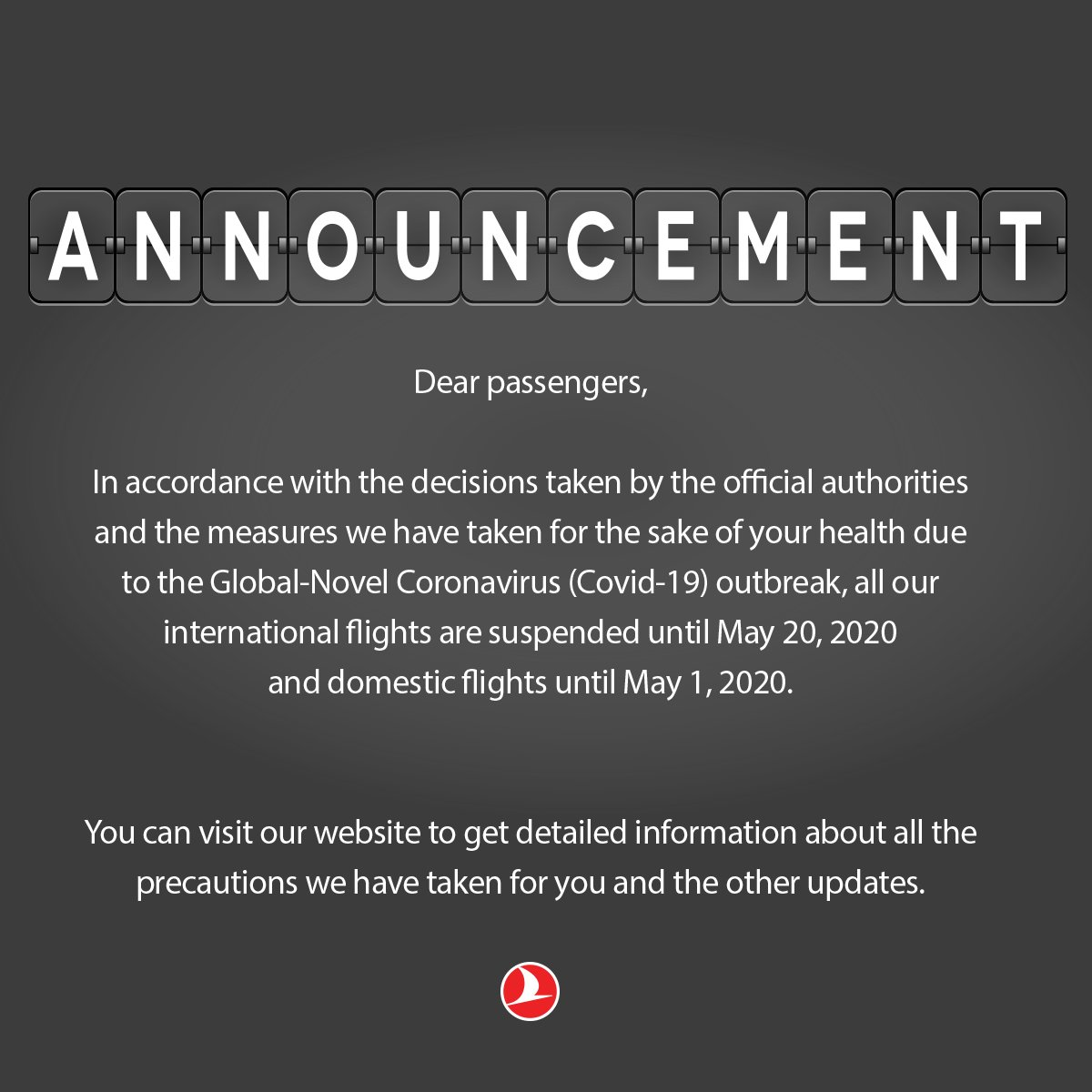 Attention to our passengers;   🔎https://t.co/alP9N5cTCx https://t.co/gjoFvzuspk
