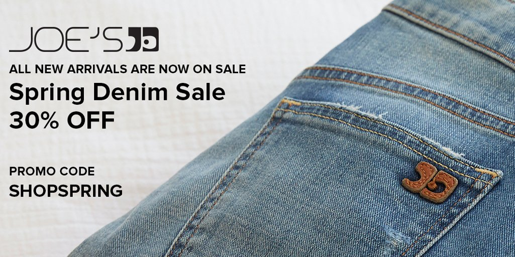 One Day Extension! Last Chance to shop the spring denim sale. All new arrivals are 30% off with code SHOPSPRING. https://t.co/Gz3GidtZtW https://t.co/occ6x1AOie
