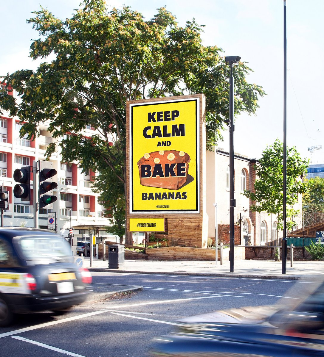 OOH roadside audiences down 50%. Social distancing the new normal. Hard to find the silver linings at work... Love this #WaronCovid19 by @misterhodson & @misterkeet. Just went live on Storm @clearchanneluk after email exchange over weekend #positivity #creativity #OOH #posters