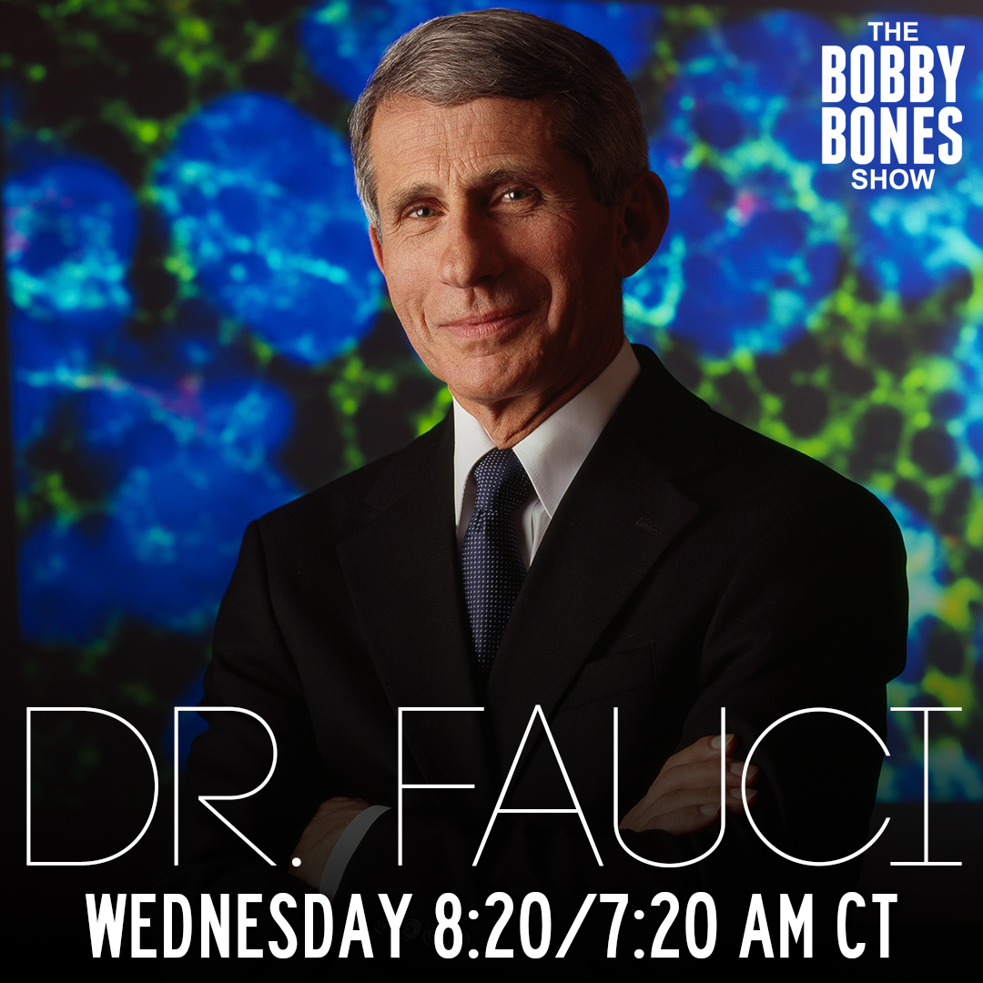 Tomorrow! @mrBobbyBones will definitely be geeking out because Dr. Fauci will be on with us!