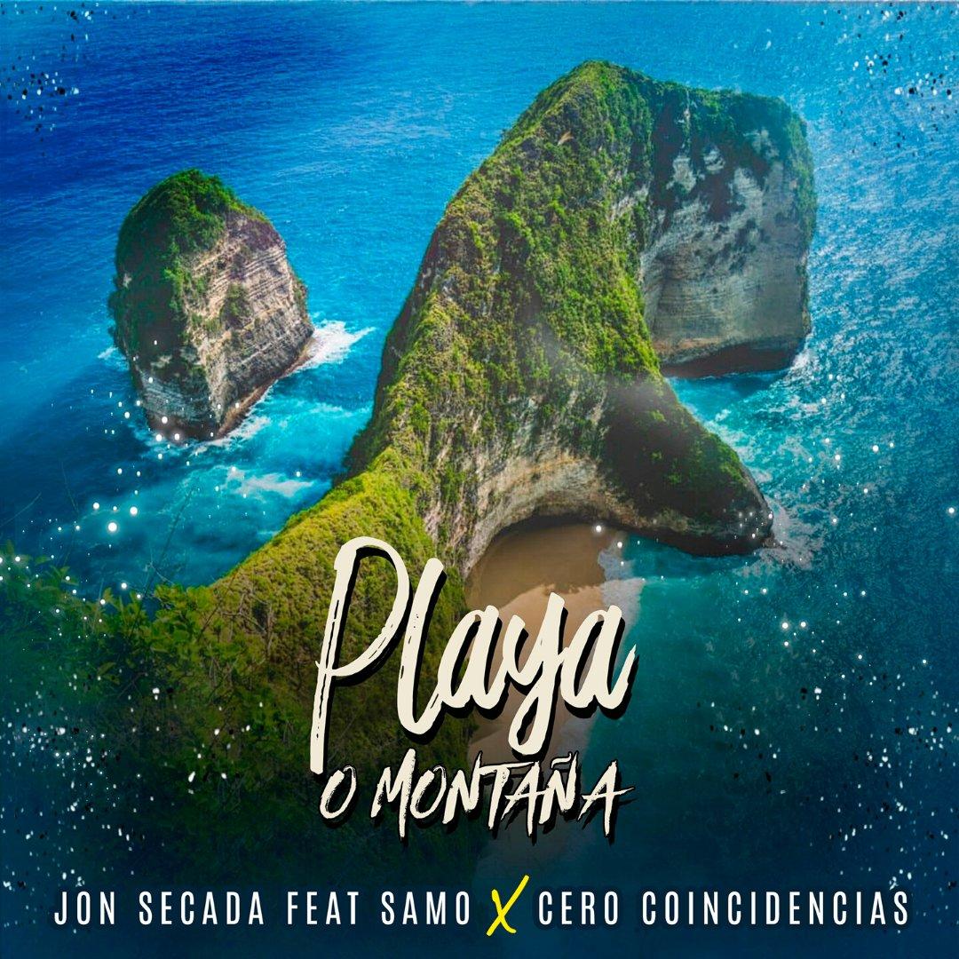 """Comparto con todos ustedes la portada de mi nuevo single """"Playa o Montaña"""" feat. @SAMOALLSTAR  y #CeroCoincidencias que verá la luz el próximo 24 de Abril.  Pueden hacer el Pre-Save aquí ▶️ https://t.co/vfdYbqHi9j  #PlayaoMontaña #JonSecada #Samo #NewSong  #UrbanReggae https://t.co/S7RcZhQo4e"""