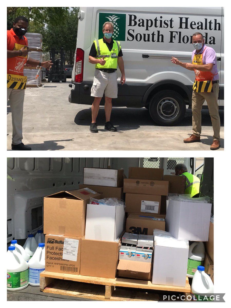 Proud to work for a company that always gives back to the community! Team 206 giving back to our community during times in need!  THANK YOU  to our front line heroes #baptisthealthsf @wcork19 @SantiBernardez https://t.co/xwSLqZKqCV