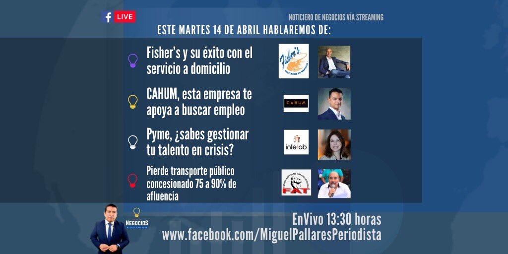 #EnVivo Noticias de negocios a las 13:30 pm desde Facebook Live 👉🏻  🎥📲 #trmx #bolsamx #negocios #empresas #pymes