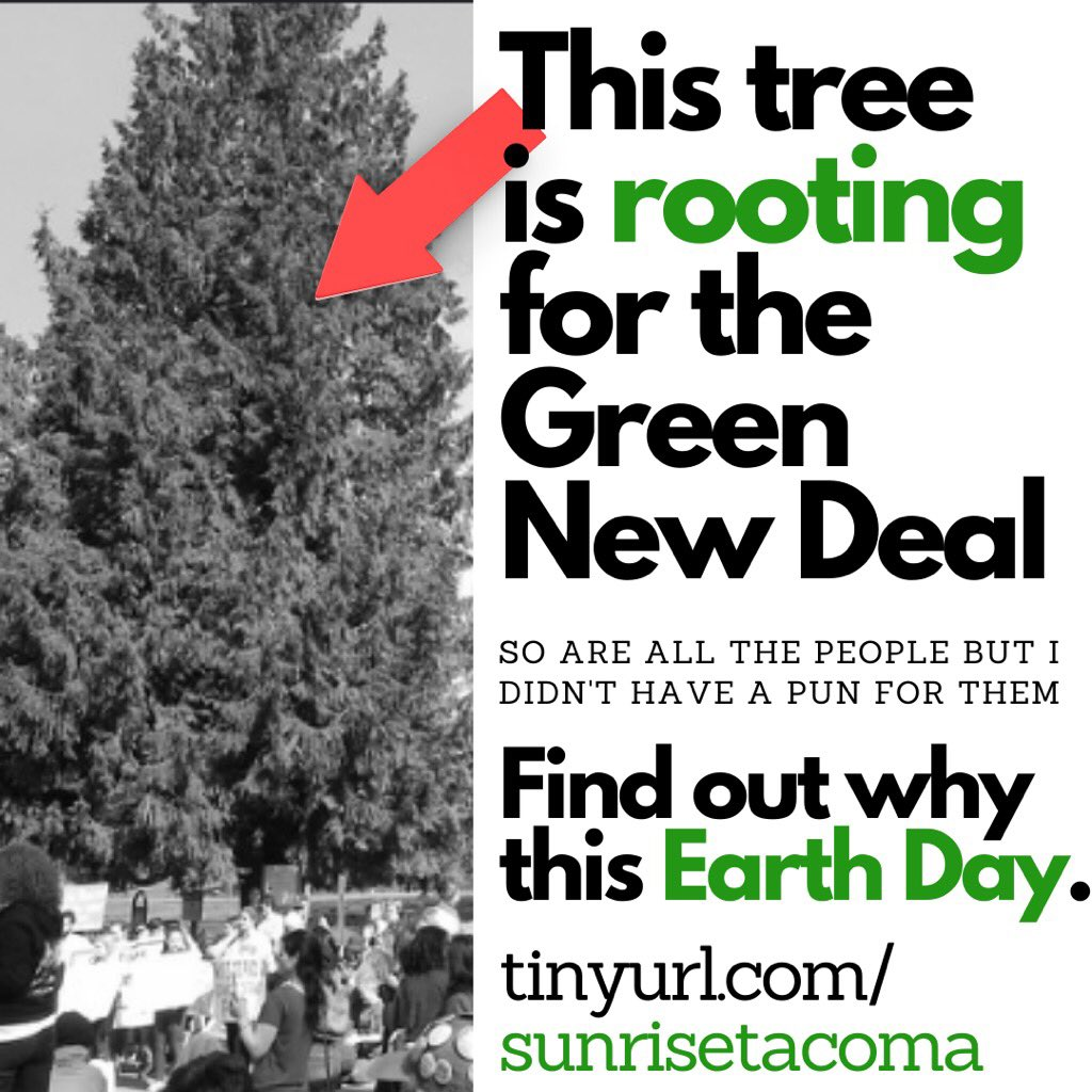 Are you *rooting* for a #GreenNewDeal with us?! Register at tinyurl.com/sunrisetacoma