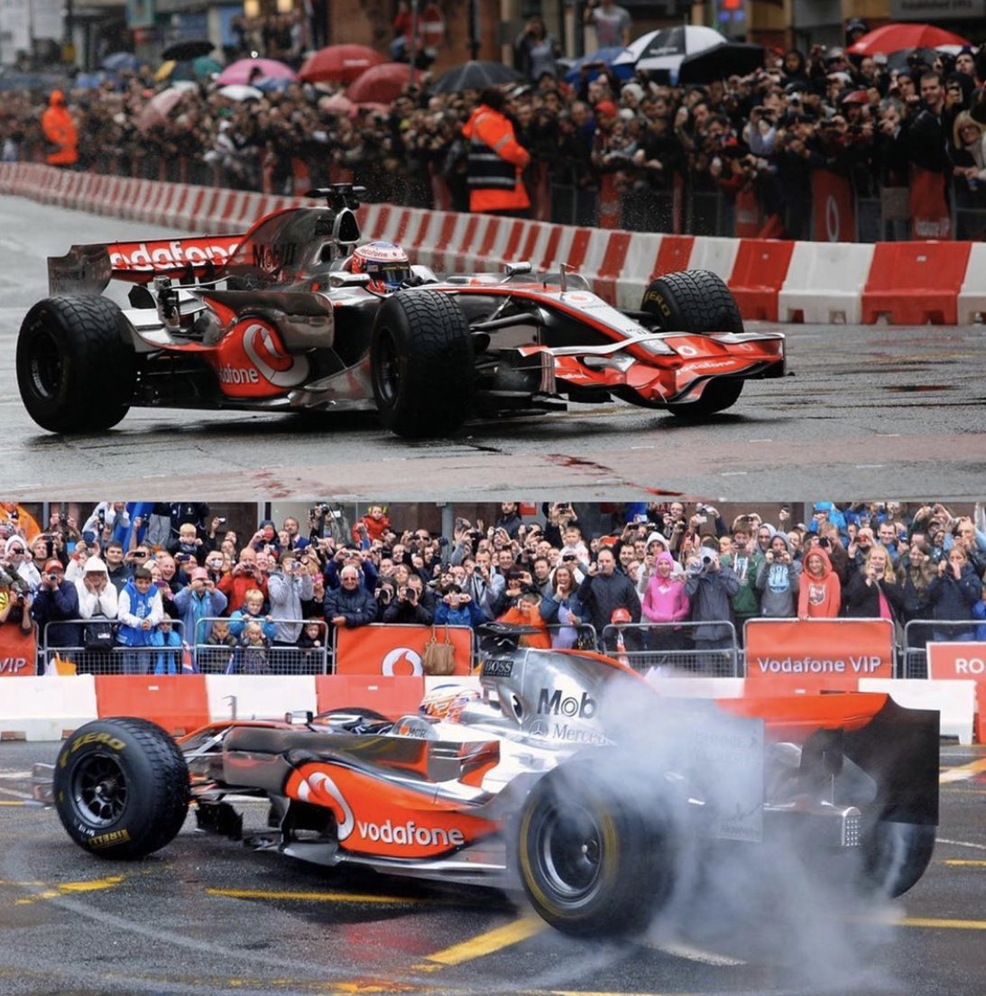 First time I ever saw F1 cars up close when @JensonButton drove @McLarenF1 around the Manchester streets in 2011 ever since that day been to many GP's across the world glad to have found updated quality photos of this special day! https://t.co/0kH9N5jR7z