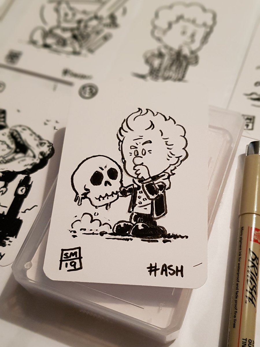 #HellOfABird #HeavenSent #PeterCapaldi #Inktober2019  12th and the skull in a #CalvinAndHobbes style on a playing card  #FanArtpic.twitter.com/uqKNkmxPIH