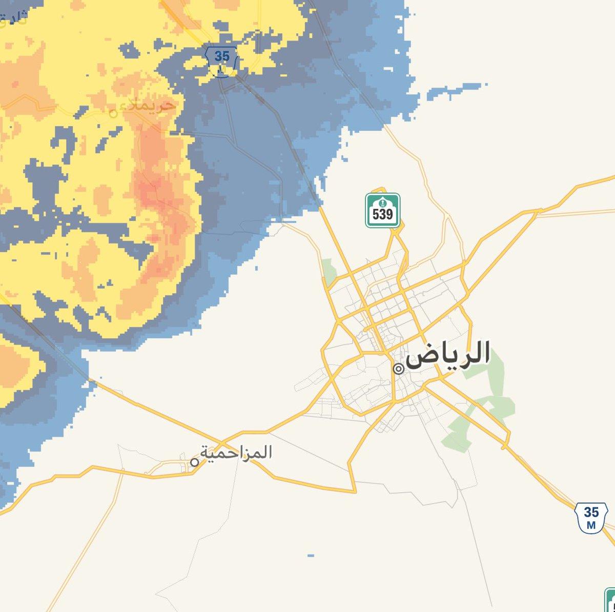 السحب الممطرة بإذن الله تقترب من مدينة #الرياض. الساعة 1:10 ص https://t.co/EhqwXwyF2E