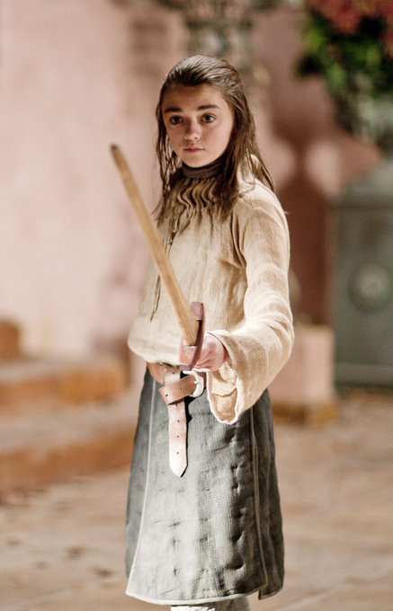 Happy birthday to aka Arya Stark with whom I fell in love in the series.