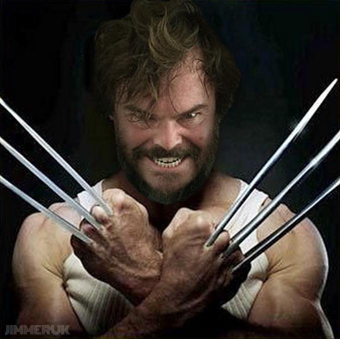 Fan edit of Jack Black exposing Wolverine's claws
