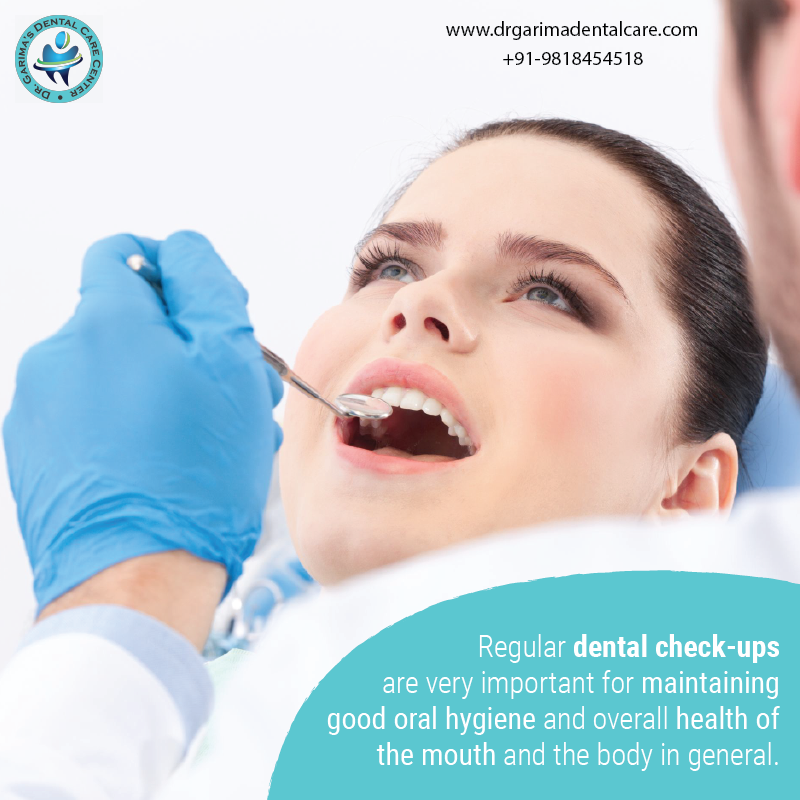 Regular dental check-ups are very important for maintaining good oral hygiene. Visit http://www.drgarimadentalcare.com/ or call +91-9818454518 for more details. #teethproblem #gumproblem #healthyteeth #healthysmile #happyteeth #smile #dentalcare #dentalproblem #dentalclinicpic.twitter.com/0kMYnOQibi