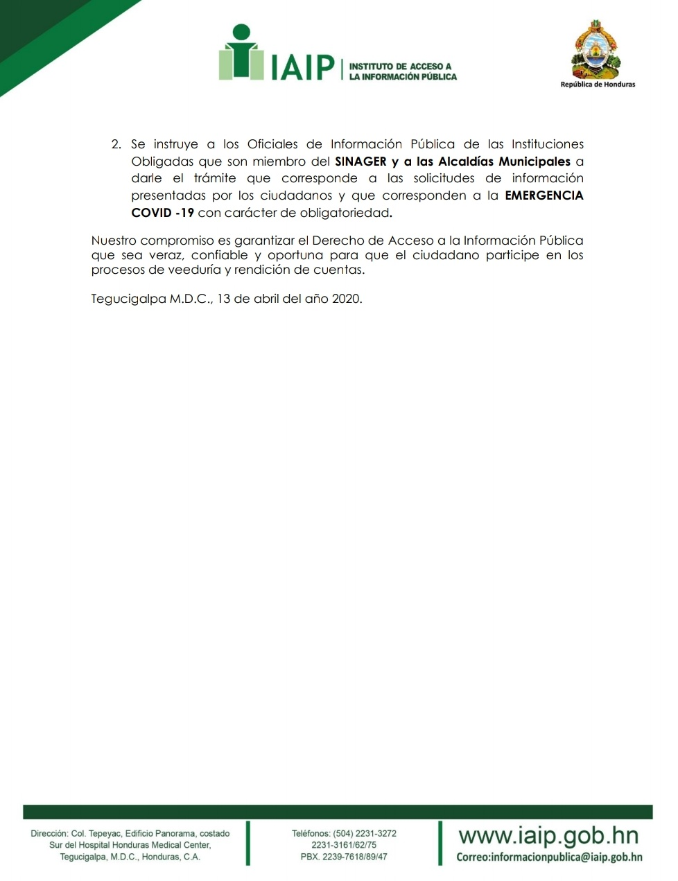 Piden dar trámite a solicitudes de información durante emergencia por COVID-19