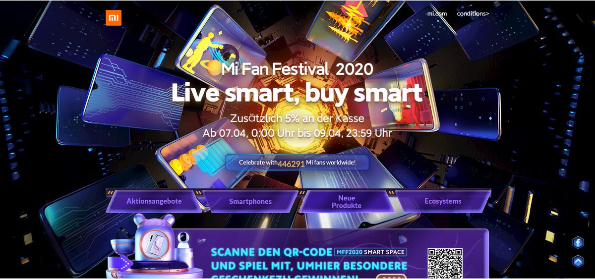 Dear #MiFan,  kindly remind you it's the last day of #MiFanFestival2020  Enjoy the last hurrah! https://www.ebay.de/itm/Xiaomi-Redmi-Note-9S-4-64GB-Smartphone-Handy-6-67-Snapdragon-5020mAh-48MP-18W-/383457058000?nordt=true …pic.twitter.com/KLnqzy9eWy