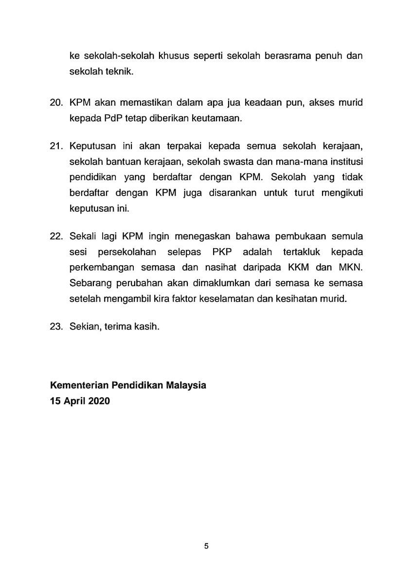 Teks Ucapan Menteri Pendidikan Pkp