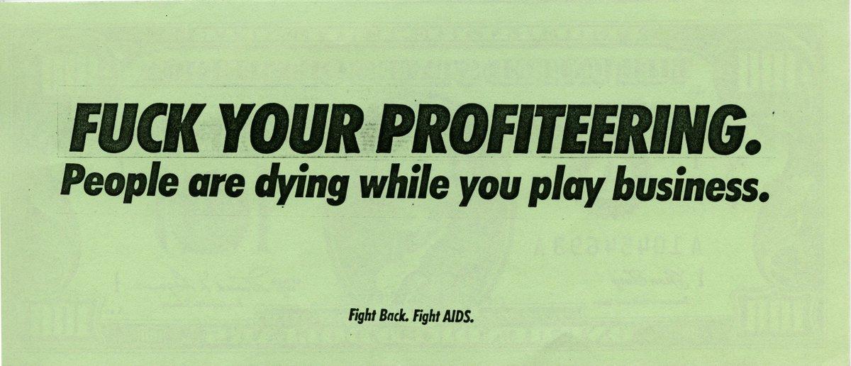 «Wall Street Money», de Gran Fury (1988) #DiaMundialDelArte <br>http://pic.twitter.com/8302rVorLy