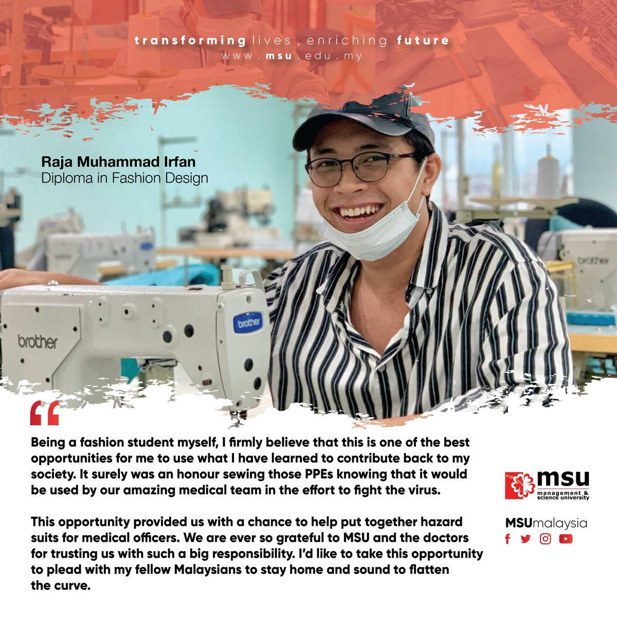 Msu Malaysia On Twitter As The Local Fashion Designers Come Together To Sew And Supply Ppe Suits For Our Frontline Heroes Msumalaysia Fashion Design Students Have Volunteered To Do Their Part