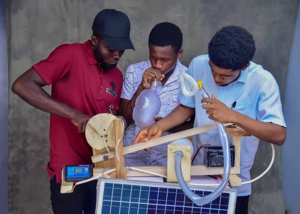 Ichor Joshua, builds Solar-powered Ventilator from local materials.