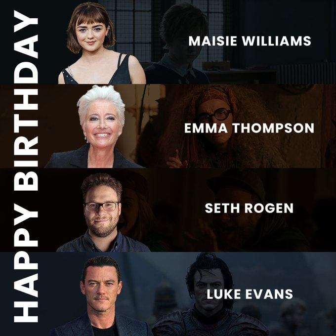 Happy Birthday to Maisie Williams, , and !!