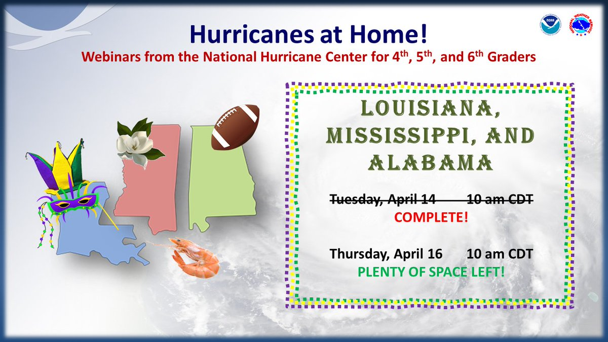 Hurricanes At Home Webinars From The National Hurricane Center For 4th 5th And 6th Graders Wkrg News 5