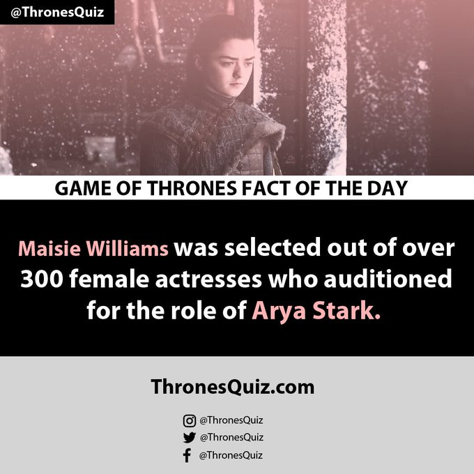 Happy birthday to Maisie Williams, who turns 23 years old today!