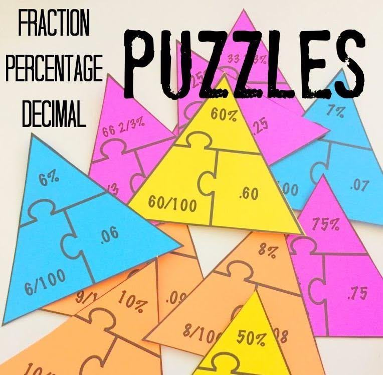 "McKellar Math on Twitter: ""Math Puzzle (Fraction, Percentage, Decimal)  https://t.co/vheNWYMS9Z… """