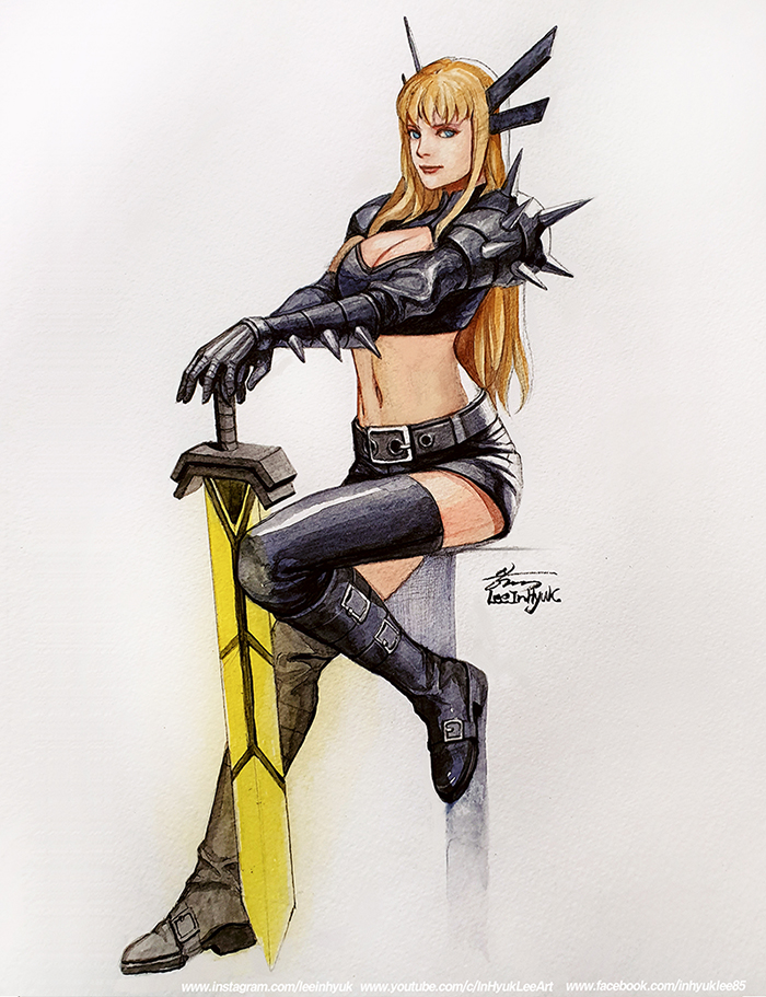 Magik / Full Body/ A4 size/ watercolor and I will open my commission list again soon. https://t.co/SNAdAJvKnz
