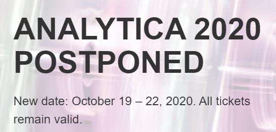 New dates for #analytica2020 are scheduled for 19th-22nd October 2020 . Read more here...https://analytica.de/en/trade-fair/information/analytica-2020/…  #Coronavirus #COVID2019 #myLabmate #Science #laboratory #Munich  @analyticaFairpic.twitter.com/tUtCNkMSBw